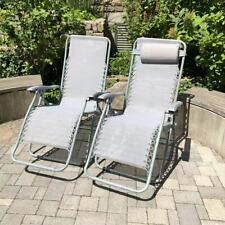 2x Klappliege Relaxsessel Camping Sonnenliege Stuhl Garten Sessel Hochlehner