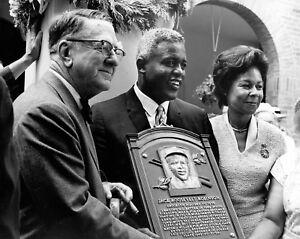 "Jackie & Rachel Robinson & Branch Rickey - 8"" x 10"" Photo - 1962 Hall of Fame"