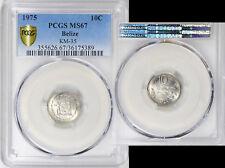 Belize 1975 10 Cents PCGS MS-67