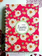 "Blank Recipe Book Journal Food ""Favorite"" Spiral - Radiance"