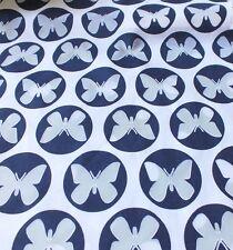 Hilco Baumwollstoff Ausbrenner Papillon blau Schmetterling Meterware Kinderstoff