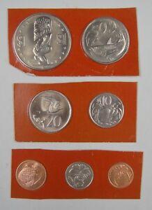 Cook Islands Coins Set of 7 Pieces 1974 UNC