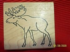 Wooden Rubber Stamp Block Stamp Moose 2004 Stamping & Embossing