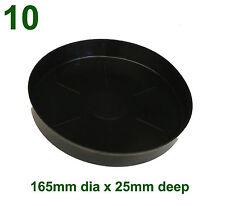 Black Plastic Saucer to suit 175mm Round Plant Pot x10