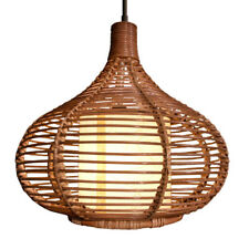 Handmade Southeast Asia Rattan Ceiling Pendant Lamp Living Lights Chandelier
