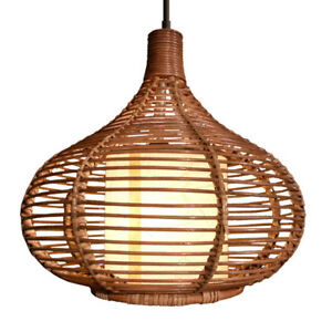 Handmade Southeast Asia Rattan Ceiling Pendant Lamp Living Lights Chandelier