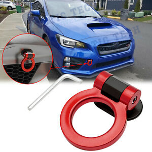 JDM Red Track Racing Sport Style ABS Tow Hook Ring Decoration For Subaru WRX STI