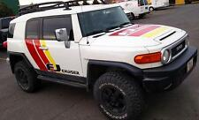 Huge KIT of side hood stripes Decals Stickers Vinyl fits to FJ Cruiser Off Road