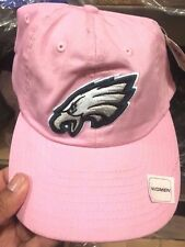 NFL Philadelphia Eagles Ladies Women's Pink with Green Logo Slouch Fit Hat Cap