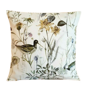 "14"" 16"" 18"" 20"" New Cushion Cover Prestigious Wetland Fennel Birds Design"