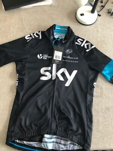 "Rapha Team sky cycling jersey Size Medium Fits Chest 38"" More Sizes On Account."