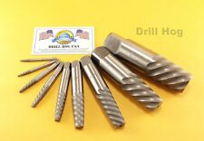 9 Pc Jumbo Spiral Easy Out Set Round Screw Extractor Drill hog Lifetime Warranty