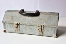 Vintage Portable Metal Hand Tool Box Steel Toolbox