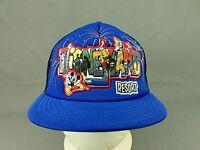 Disneyland Resort Hat Cap Walt Disney Parks Snapback Trucker Youth Blue