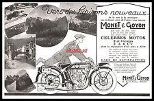 Publicité MONET & GOYON Moto Ancienne Motocyclette  vintage ad  1926 7i