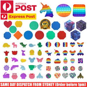 Push Bubble Pop It Sensory Fidget Toy Dimple Stress Relief Kids Tiktok Game Gift