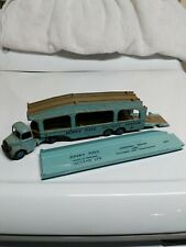 Dinky Toys Bedford and Pullmore Car Transporter #582 Light Blue Made in England