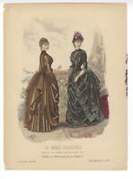 """Ladies Fashion Print - """"La Mode Illustree"""" 1885 No. 32"""