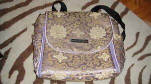 PETUNIA PICKLE BOTTOM PURPLE BOXY DIAPER BAG