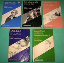 5 Riverside Editions Poetry Prose Middlemarch Don Juan Portrait of A Lady Poems