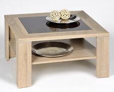 Quadratische Couchtische Aus Mdfspanplatte Holzoptik Mit Ablagen