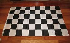 8 NEW  BLACK AND WHITE CHECKERED FLAG 3'X5' NASCAR RACING BANNER CHECKER FLAGS