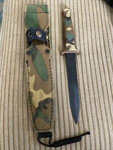 Gerber Guardian II 2 Knife Camo handle sheath Black Blade RARE Pat Pend All Orig