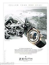 PUBLICITE ADVERTISING 105  2014  ZENITH  montre EL PRIMO CHRONOMASTER 1969