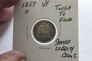 1857-O   VF    SEATED LIBERTY DIME