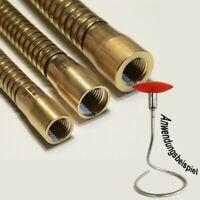 Lichthalterschlauch, Flexarm, Schwanenhals Messing roh 10x200mm, M10x1 IG