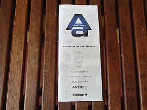 BROCHURE AUTOART AUTHENTIC DIECAST MODELS EDITION 9 EXCELLENT CONDITION