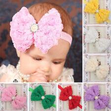 Baby Girls Newborn Pretty Chiffon Headband Flower Bows Lace Bowknot Hair Band
