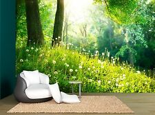 Grass Spring Forest Landscape Green Wall Mural Photo Wallpaper GIANT WALL DECOR