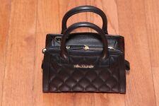 New Vera Bradley $198 Quilted Natalie Small Cross Body Bag Purse Black