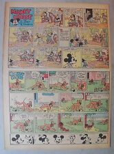 Mickey Mouse Sunday Page by Walt Disney from 9/25/1938 Tabloid Page Size