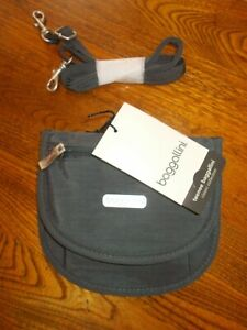 TEENEE BAGGALLINI GRAY & PINK MINI PURSE BELT BAG NWT