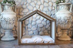 SIRIUS, Indoor Wood Dog House, Modern Crate, Luxury Pet Furniture, Sofa Bed