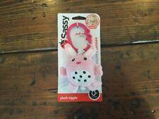 New Sassy Plush Ziggle Light Pink Bunny Easter!