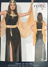 "Cleopatra Egipcio Fancy Dress Costume ""Reina del Nilo"" Grande UK 16-18"