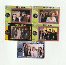 (5) Bon Jovi Rare Phone Cards