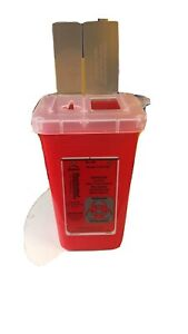 Sharps Container Translucent Red 1 Quart Size