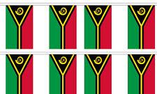 Vanuatu 12x18 Bunting String Flag Banner (8 Flags)