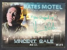 BATES MOTEL Breygent 2015 PARALLEL AUTOGRAPH CARD #AVG VINCENT GALE #5 of 6