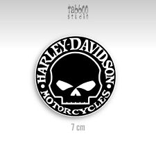 Pegatinas HARLEY DAVIDSON moto custom calavera casco helmet art 21.03 wht black