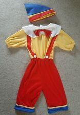 Kids Boys Pinocchio Puppet Fancy Dress Costume M Age 7-9 Yrs Used