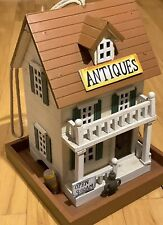 """New listing """"Antiques Store� Vintage Rustic Style Birdhouse House Americana Home Decor 9.5�"""