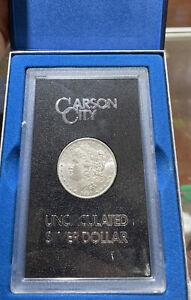 1891-CC Carson City Unc Morgan Silver Dollar GSA Box Key Date BP