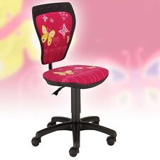 Kinder Drehstuhl Mädchen Büro Stuhl Spielzimmer Schmetterling Motiv Nowy Styl