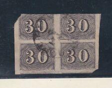 brazil 1850 Sc 23 block of four,used      p2374