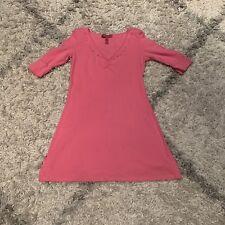 Betsey Johnson Intimates Size Small Pink Women's Knit Sleep Shirt Dress Cotton